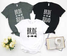 Load image into Gallery viewer, Bachelorette Party T Shirts Bride Squad