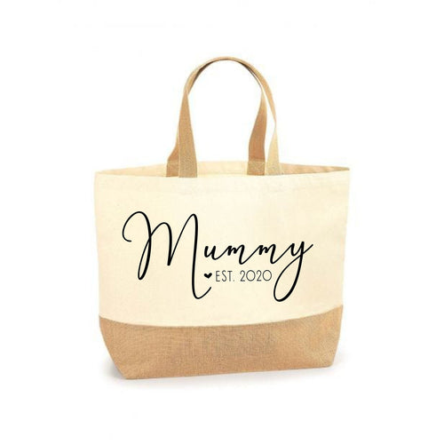 New Mummy Gift Personalised Mummy Est Tote Shopping Bag