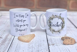 Personalised Bridesmaid Proposal Mug