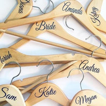 Load image into Gallery viewer, Personalised Wedding Hanger Sticker DIY Bride Decals