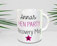 Hen Party Recovery Mug Personalised wedding mugs bride to be coffee mug hen weekend stag do