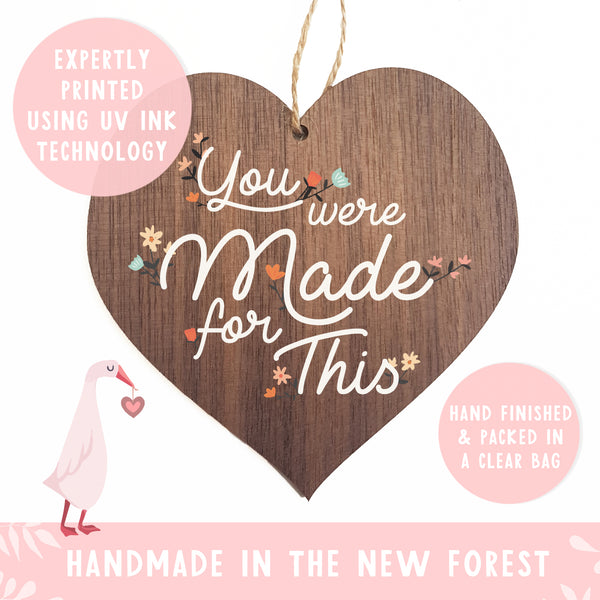 You were made for this decorative plaque or sign