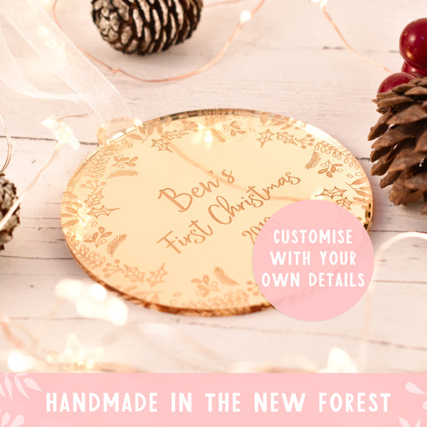 Luxury Baby's First Christmas Bauble