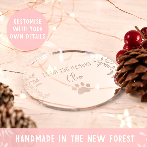Luxury In Loving Memory Pet Remembrance Christmas Bauble
