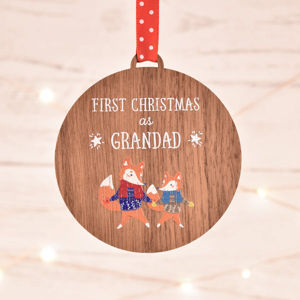 First Christmas as Grandad Bauble