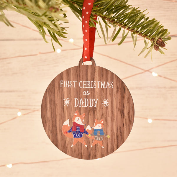 First Christmas as Daddy Bauble Tree Decoration