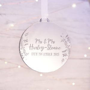 Luxury Personalised Wedding Anniversary Bauble