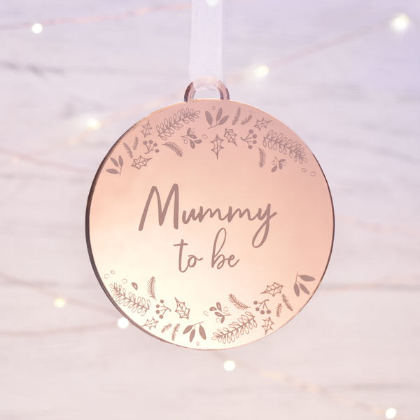 Luxury Mummy to Be Christmas Bauble