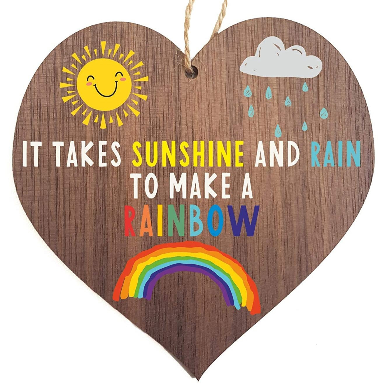 Sunshine and rain to make a rainbow