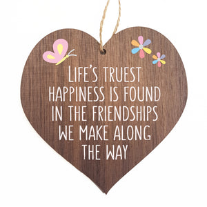 life's truest happiness is found