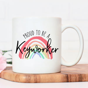 Proud to be a keyworker mug