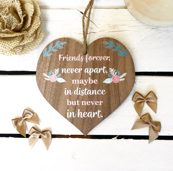 Never Apart Heart Plaque