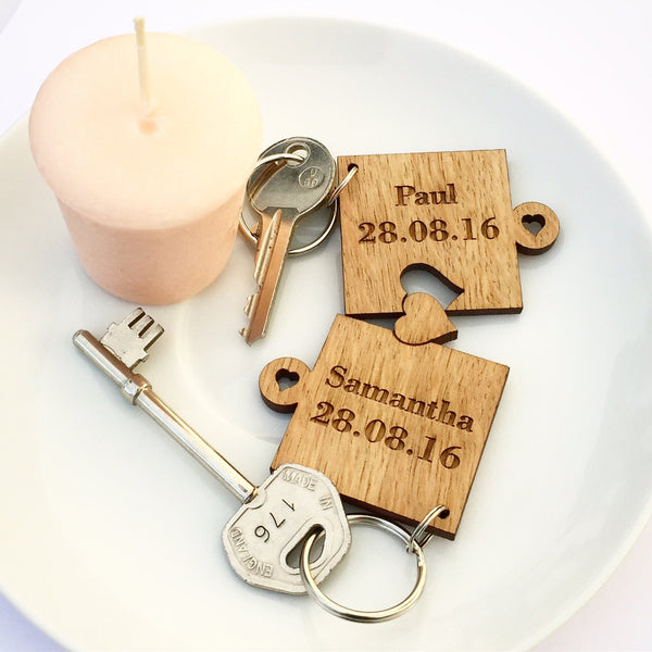 Puzzle keyring - perfect for valentines day, anniversary, birthdays, engagement