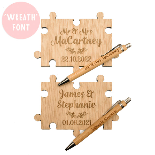 Jigsaw Puzzle Guestbook Set - Jigsaw Puzzle, Pen and Sign