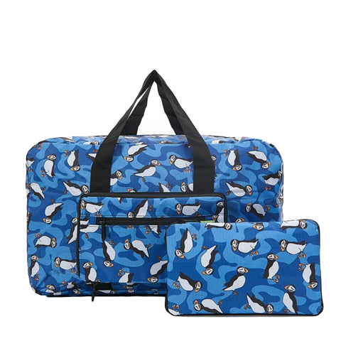 Expandable Holdall - Blue Puffin
