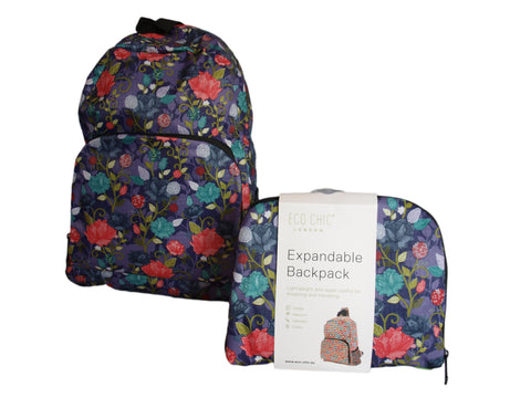 Expandable Backpack - Roses
