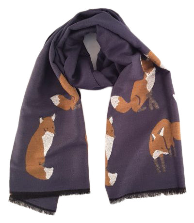 Heavyweight Winter Navy Fox Wrap