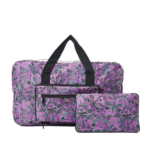 Expandable Holdall - Purple Dragonfly