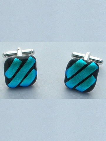 Light Blue Stripes Cufflinks