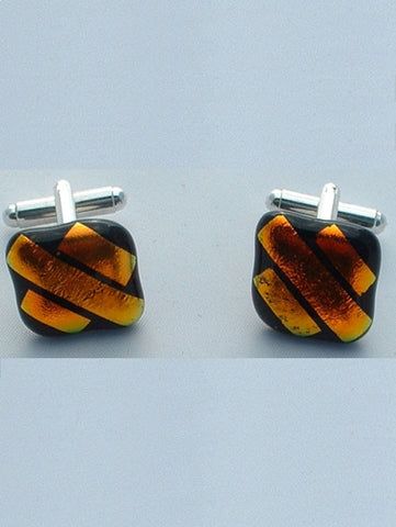 Orange Stripes Cufflinks