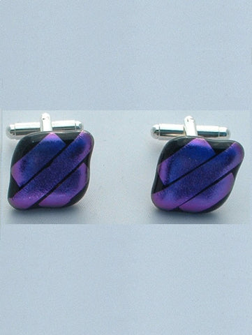 Purple Stripes Cufflinks