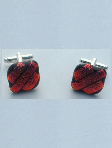 Red Stripes Cufflinks