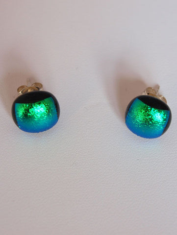 Mid Green Stud Earrings
