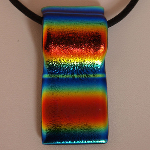 Rainbow Stripes Single Layer Pendant