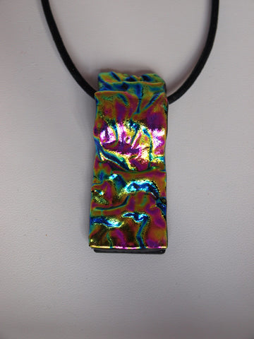 Rainbow Ripple Single Layer Pendant