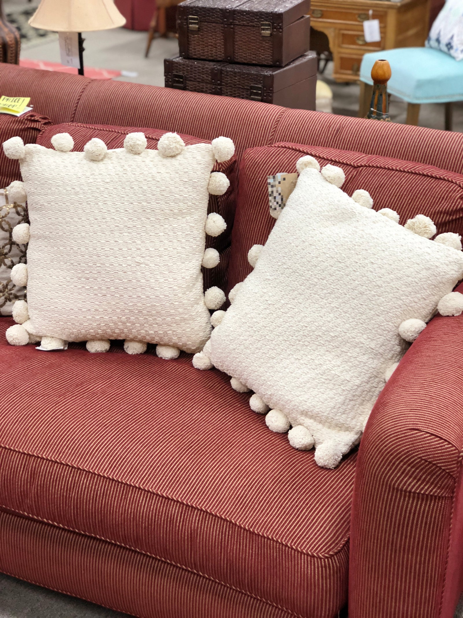 Pom Pom Tassel Pillows [PAIR]