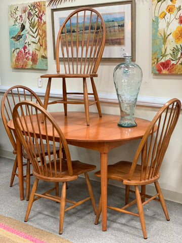 6 Blonde Seat Dining Chairs