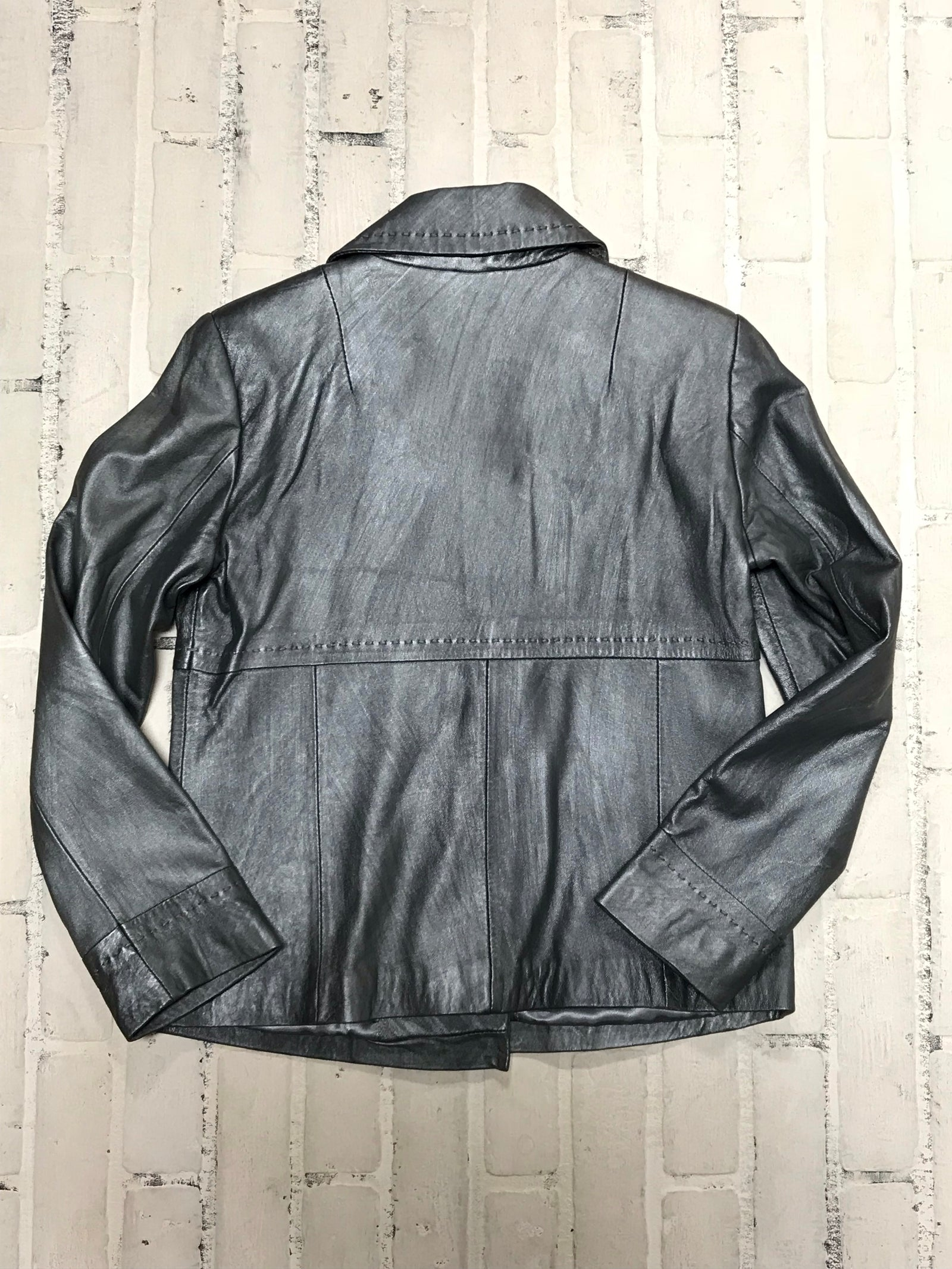 Chico's Leather Jacket (1/Small)