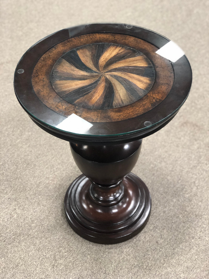 Inlay Pedestal Table