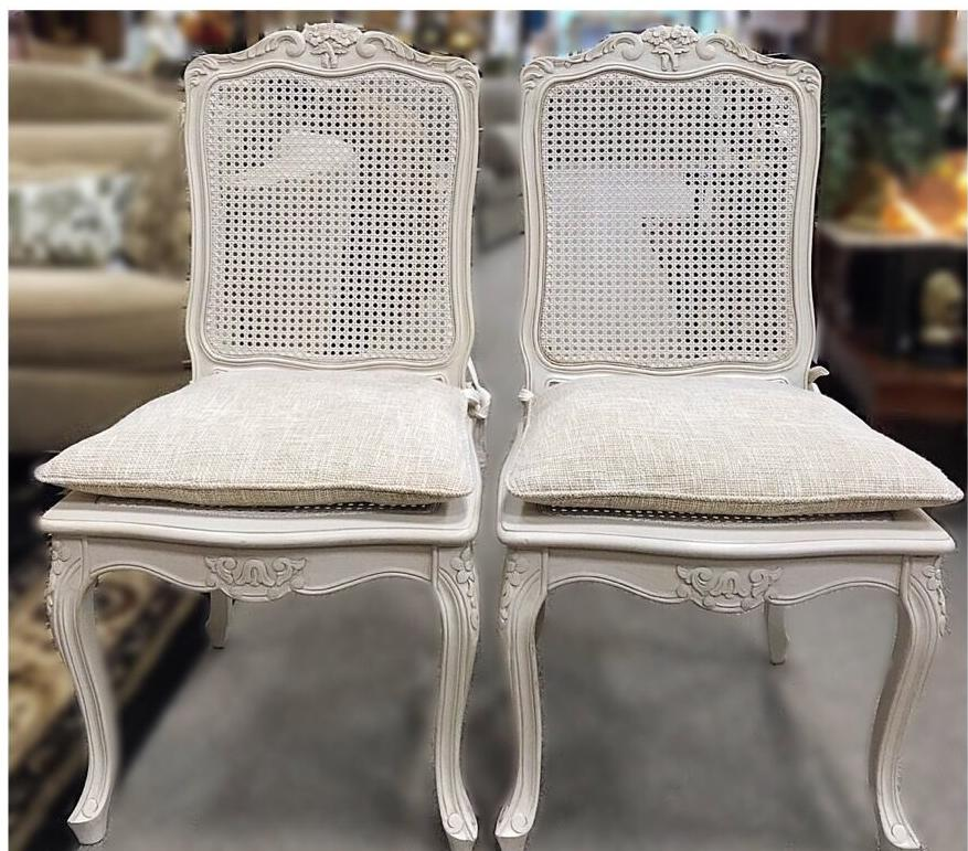 Pair of Italian Cane Chairs