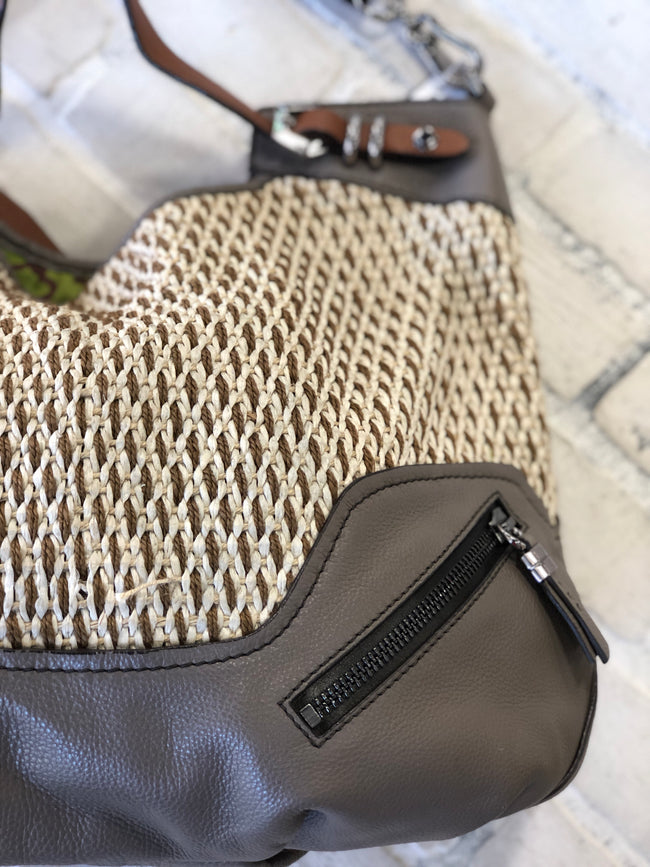 Oryany Woven Leather Hand Bag