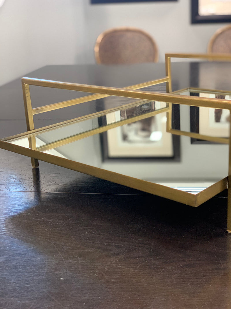 Mirrored Accent Tray