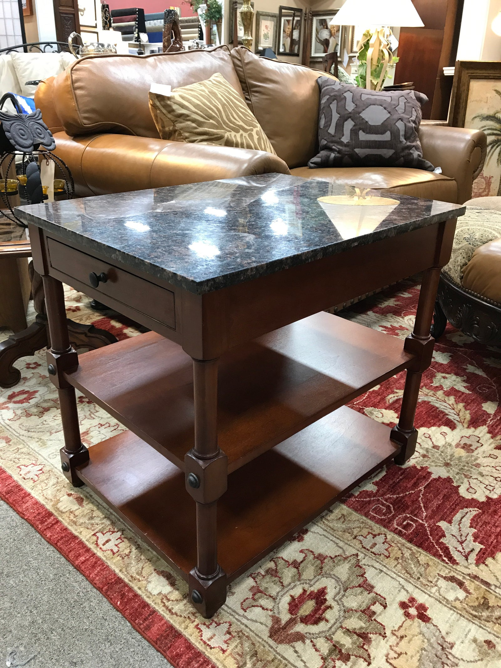 Granite End Tables PAIR