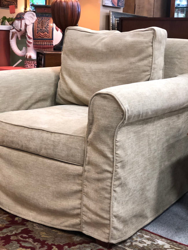 Pottery Barn Slip Covered Club Chair