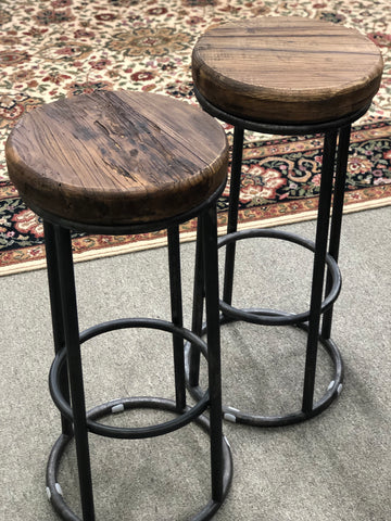 Leather Top Stool