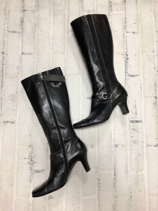 Anne Klein Leather Boots (8.5)