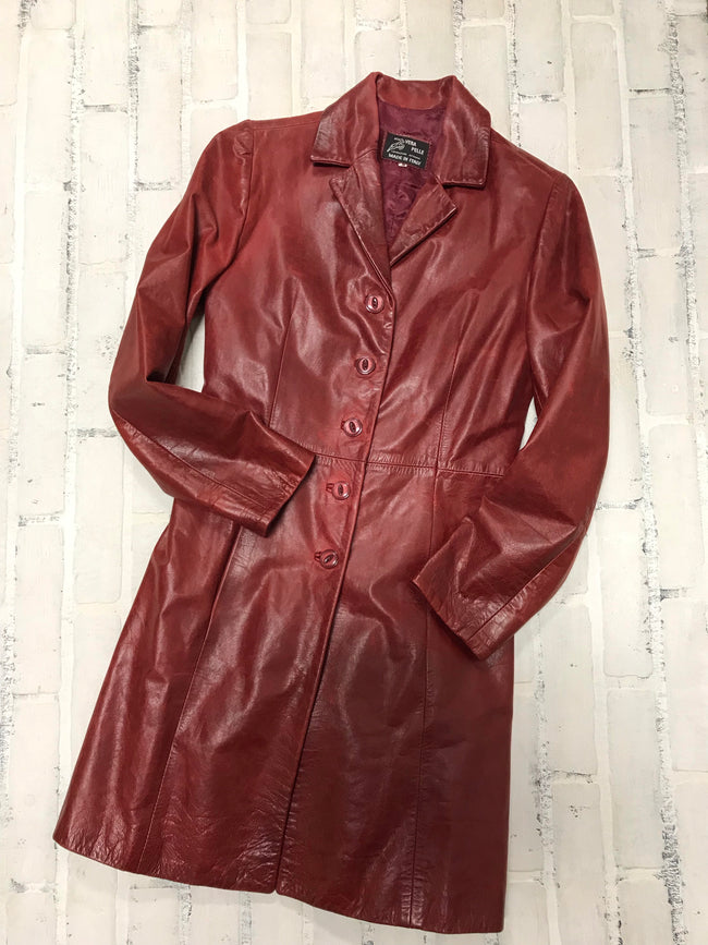 Vera Pelle Leather Coat (38/2)