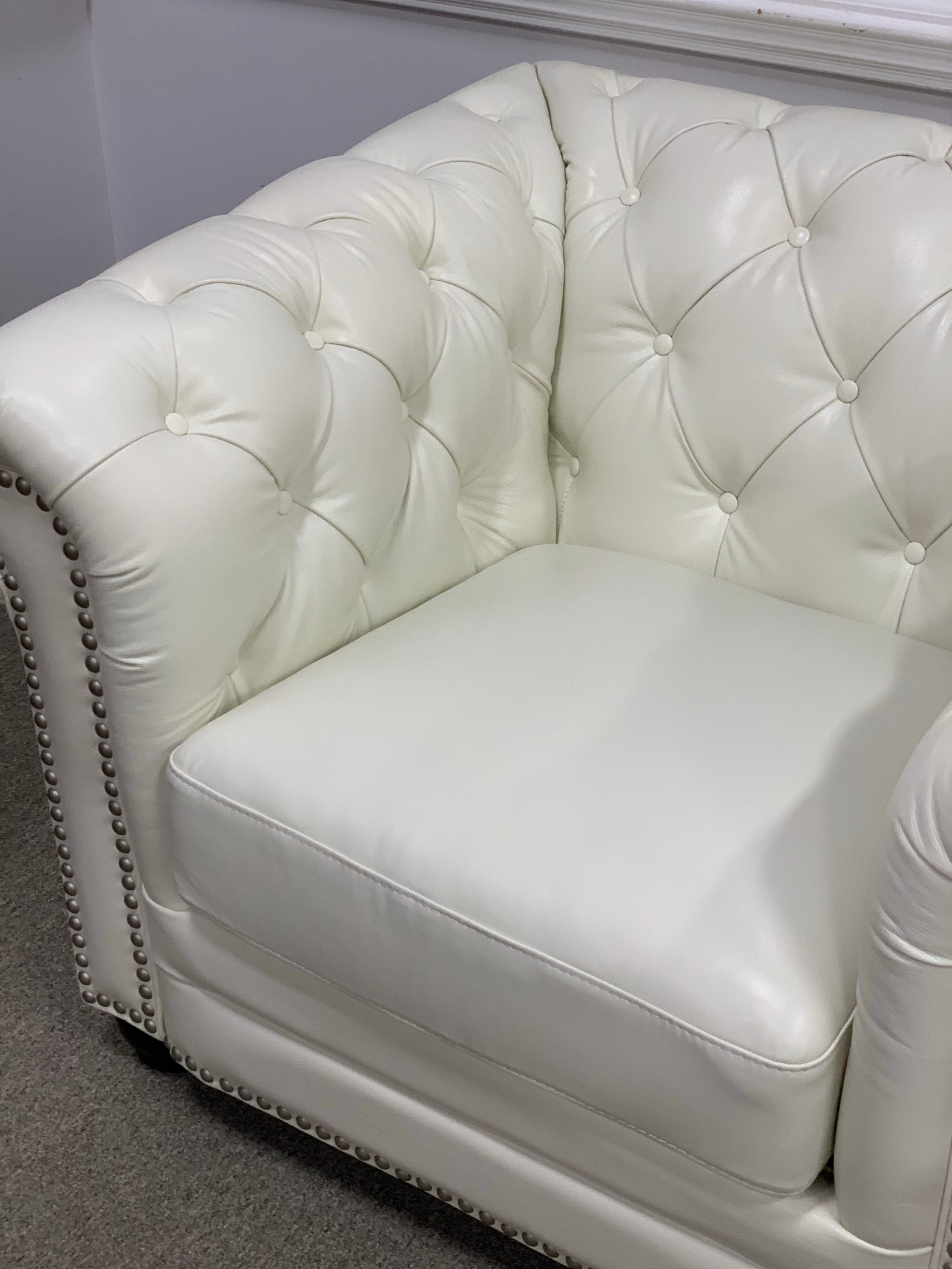 Brand New Leather Club Chair