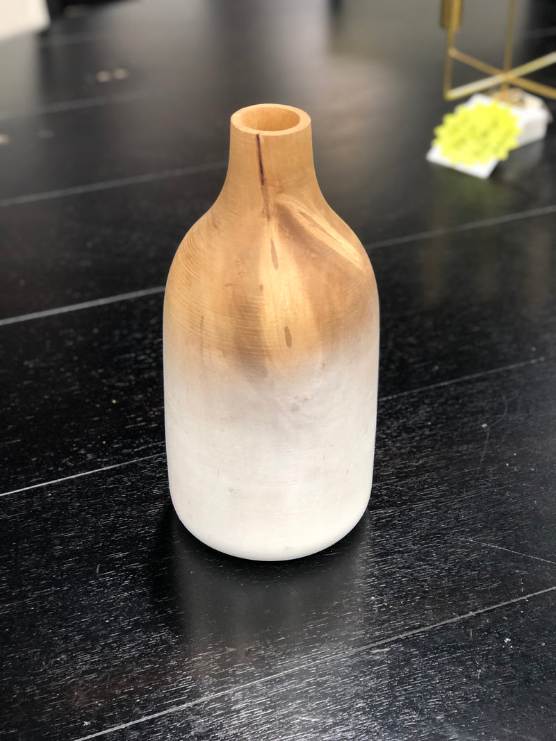 Painted Wooden Vase