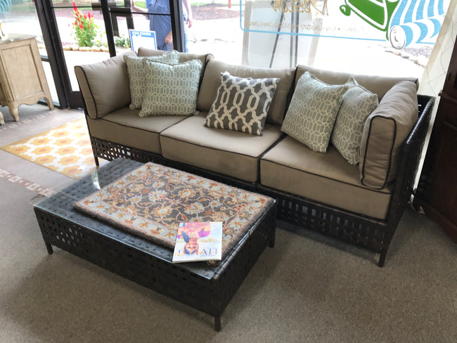 Outdoor Sofa & Coffee Table