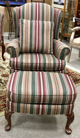 Wing Chair & Ottoman