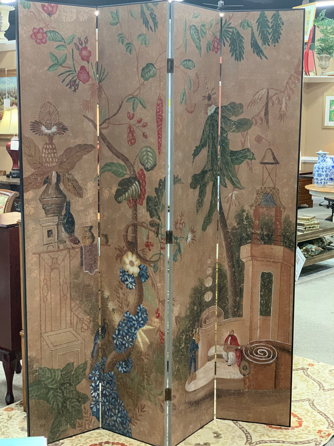 Oriental Painted Screen