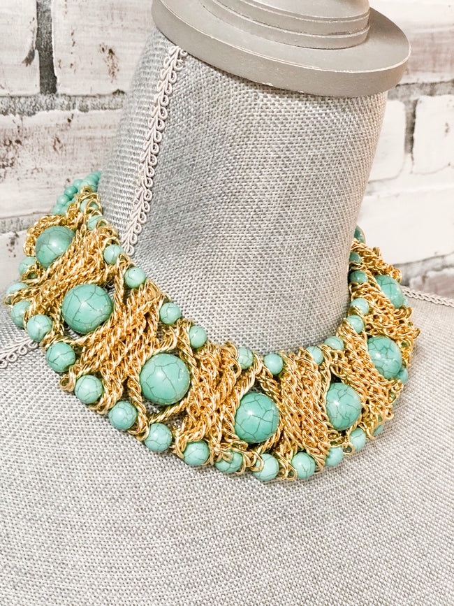 Turquoise Collar Necklace