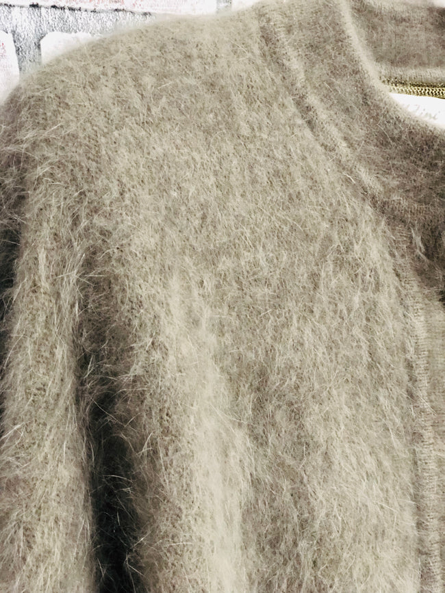 Belldini Angora Rabbit Cardigan (M)