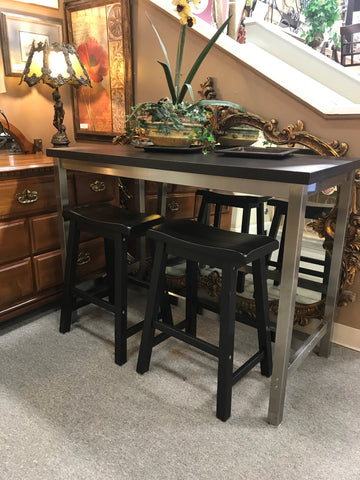High Top Metal Table