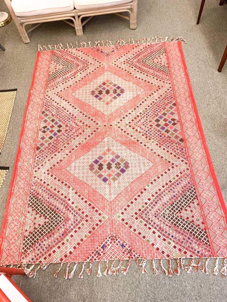 Hand Painted Patterned Rug 5X7